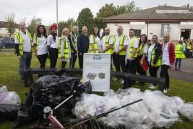 Some members of the team taking part in the Greenock litter pick.jpg