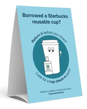 reusable cup sign