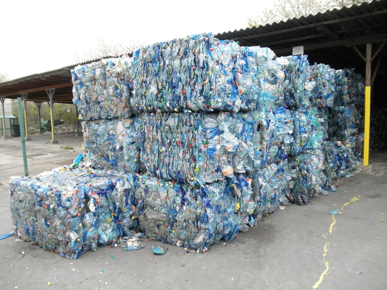Bales of collected plastic waste.jpg