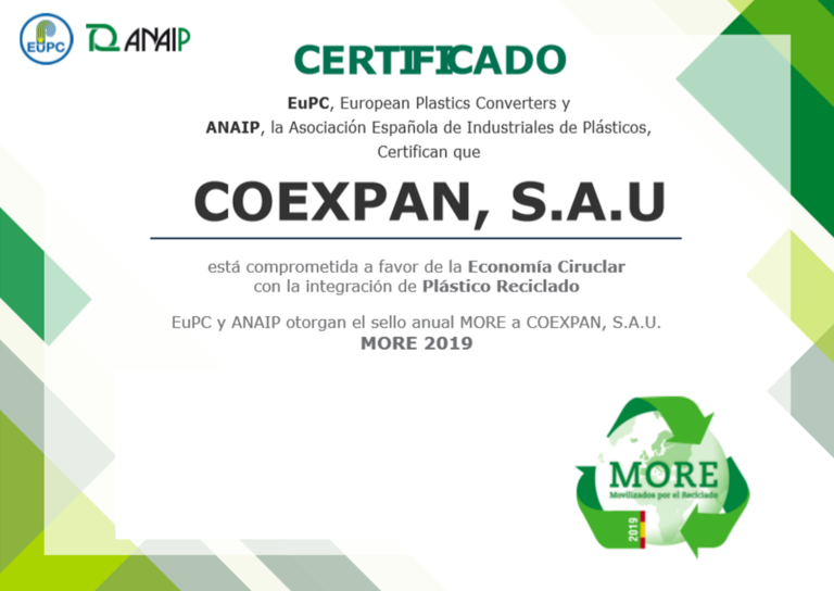 Coexpan earns the Spanish 'More' seal