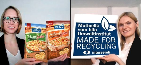 Milram's grated cheese packaging earns 'Made for Recycling' qualification